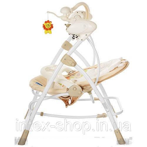Шезлонг-качалка детский Bambi M 1540-4-2 электропривод 2 в 1 мобиль музыка таймер