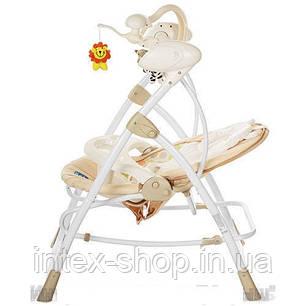 Шезлонг-качалка детский Bambi M 1540-4-2 электропривод 2 в 1 мобиль музыка таймер, фото 2