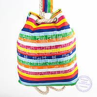 Екорюкзак с рисунком разноцветная с котиками - 728