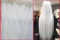Волосы на заколках, клипсах,накладные пряди! Фото реал! В НАЛИЧИИ белоснежный блонд!