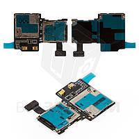 Коннектор SIM-карты для мобильного телефона Samsung I9505 Galaxy S4, с коннектором карты памяти, со шлейфом