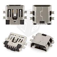 Коннектор зарядки для планшетов; мобильных телефонов; автонавигаторов; цифровых фотоаппаратов; цифровых видеокамер, 5 pin, mini-USB тип-B, тип 1