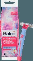 Одноразовые  женские станки для бритья (3 лезвия)  Balea Woman Einwegrasierer 3-Klingen 8 штук