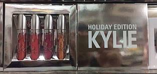 Набор жидких матовых помад Kylie Holiday Edition 4 цвета