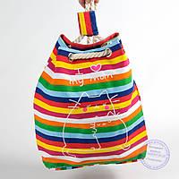 Еко рюкзак с рисунком разноцветная с котами - 728