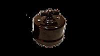 Выключатель коричневый керамический BIRONI (Одноклавишный)