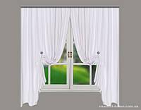 Комплект штор из Грубого Льна Yanina Белый