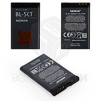 Аккумулятор BL-5CT для мобильных телефонов Nokia 3720c, 5220c, 6303, 6303i, 6730c, C3-01, C5-00, C6-01, Li-ion, 3,7 В, 1050 мАч