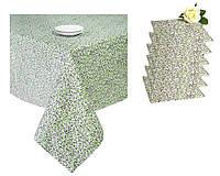 Набор подарочный скатерть и 6 салфеток Цветы-Олива ТМ Прованс