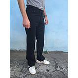 Брюки из хлопка прямые черные E-TOUGH ЛЕТО, фото 2