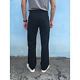 Штани з бавовни прямі чорні E-TOUGH ЛІТО, фото 3