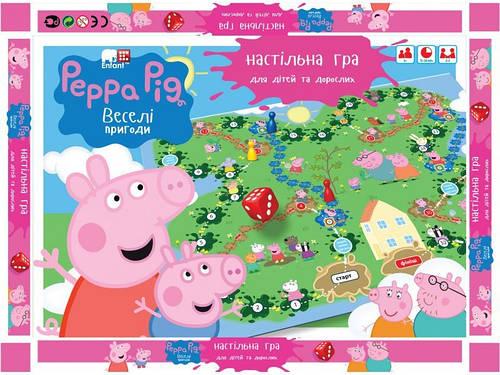 Настольная игра маленькая Peppa Pig укр