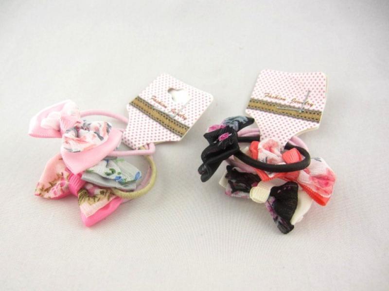 Резинка для волос с украшением (30 штук в упаковке)