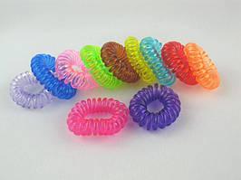 Резинка для волос пружинка силиконовая (100 штук в упаковке)