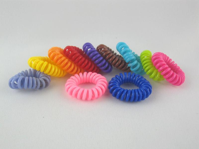 Гумка для волосся пружинка силіконова (100 штук в упаковці)