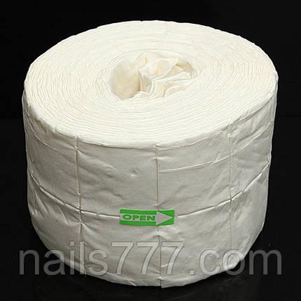 Безворсовые салфетки для маникюра, рулон 500 шт, фото 2