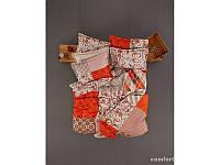 Постельное белье Karaca Home - Vera оранжевое пано ранфорс