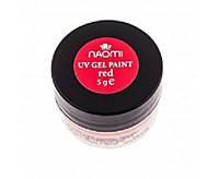 Гель-краска Naomi UV Gel Paint 5г Red