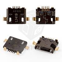 Коннектор зарядки для мобильных телефонов HTC Desire 300, Desire 500, Desire 820, 5 pin, micro-USB тип-B