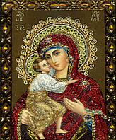 """Картина для рисования камнями Diamond painting Алмазная вышивка """"Богородица с Иисусом"""""""