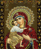 """Картина для рисования камнями Diamond painting Алмазная вышивка """"Богородица с Иисусом"""", фото 1"""
