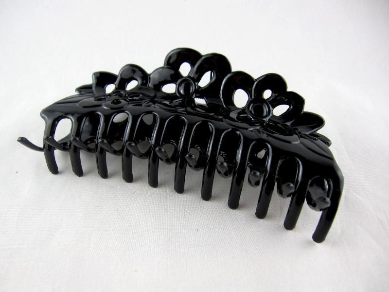 Заколка - краб для волос большой (12 штук в упаковке)