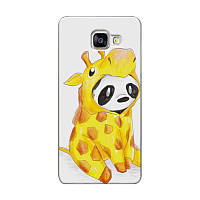 Чехол бампер силиконовый для Samsung Galaxy A3 2016 A310 с картинкой панда в костюме жирафа