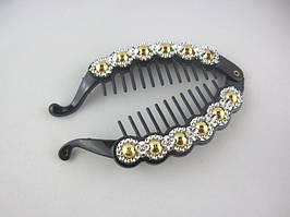 Заколка для волос гребешок - банан (12 штук в упаковке)