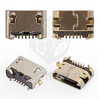 Коннектор зарядки для мобильного телефона Fly FF301, 5 pin, original, micro-USB тип-B, #30.40.0016