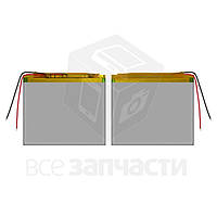 Аккумулятор, 89 мм, 100 мм, 3,4 мм, Li-ion, 3,7 В, 3000 мАч