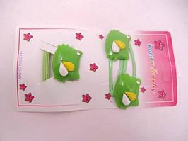 Набор детский (заколки + резинка) (12 штук в упаковке)