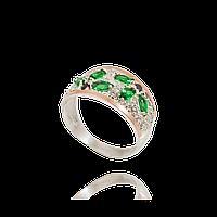 Серебряное кольцо МЕЛАНИ 925 пробы с накладками золота 375 пробы.Серебряное кольцо с золотой пластиной