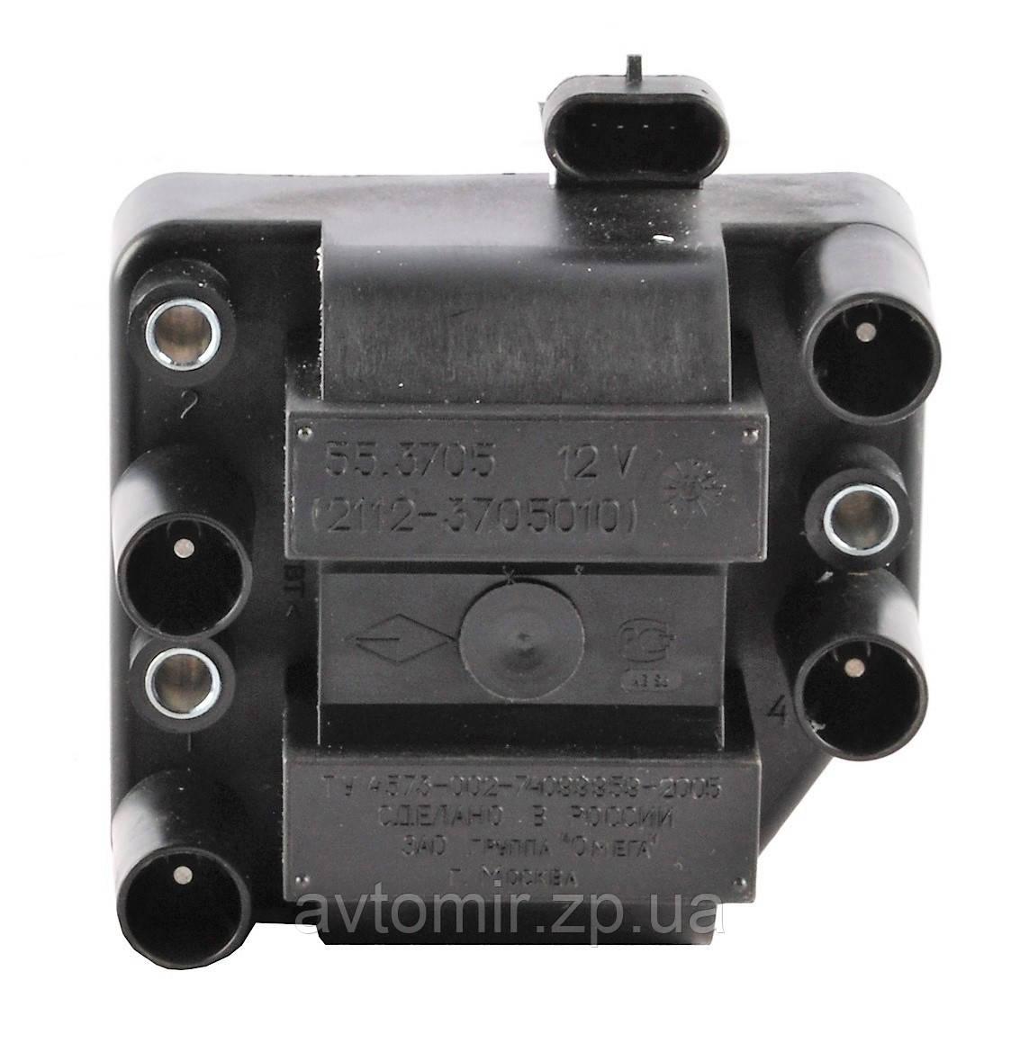 Катушка зажигания (модуль) ВАЗ 2110-2112,2113-2115 55.3705