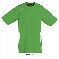 Спортивная футболка зеленого цвета,  пофессионального уровня SOL'S WEMBLEY от S до XXL