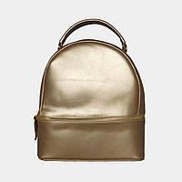 Жіноча сумка-рюкзак золото зі штучної шкіри