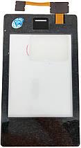 Сенсор NOKIA Asha 503 Dual Sim, black, тач скрин для телефона смартфона, фото 3