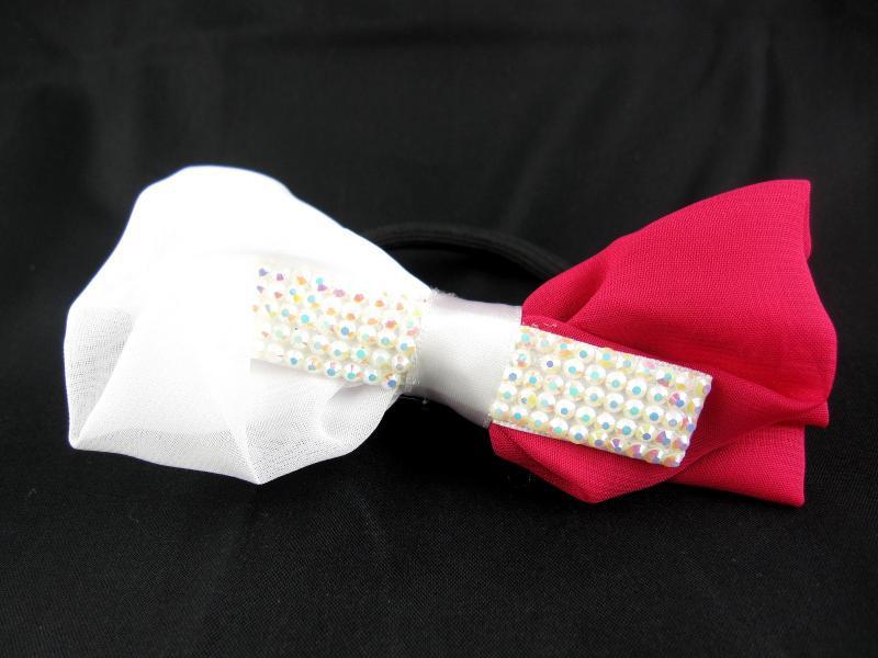 Резинка для волос тонкая с украшением (12 штук в упаковке)