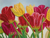 """Схема для частичной зашивки бисером 302 ― """"Тюльпановый сад"""""""