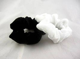Резинка для волос велюровая (50 штук в упаковке)