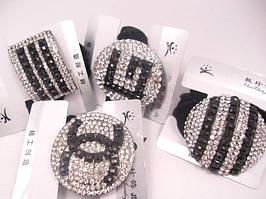 Резинка для волос велюровая с украшением (1 штука в упаковке)