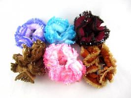 Резинка для волос трикотажно - вязанная (12 штук в упаковке)