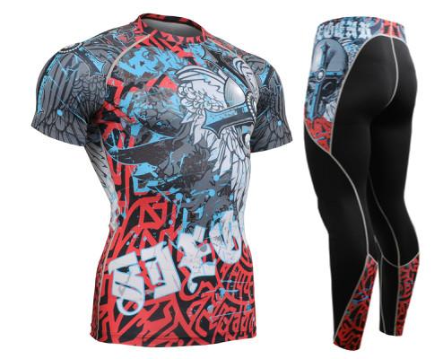Комплект компрессионная футболка Fixgear и компрессионные штаны CFS-73+P2L-73
