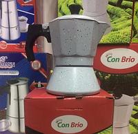 Гейзерная кофеварка на 9 чашечек Con Brio 6709(450 мл)