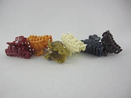 Заколка - крабик для волос маленький (100 штук в упаковке)