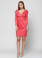 37269 Платье коралловое