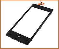 Сенсор (тачскрин) для Nokia Lumia 520 с рамкой черный Original