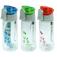 """Бутылка для воды с поилкой пластиковая """"Мода"""" 550 мл."""