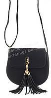 Аккуратная женская маленькая овальная наплечная сумка почтальонка LOVE DREAM art. 8027 черная
