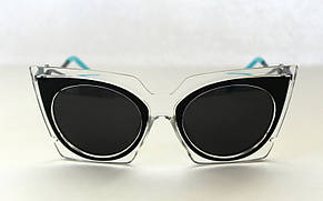 Футуристические солнцезащитные очки для женщин, фото 2