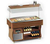 Салат-бар холодильный островной Apach ABR6 ISOLA под заказ